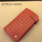 BV-00021-7 新款bv男女磚紅零錢包長款羊皮夾手抓款編織拉鏈卡位夾