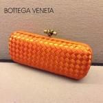 BV-00024-2 新款bv女款橙色時尚經典編織長款晚宴錢包