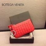 BV-00020-7 bv經典編織小羊皮女款紅色零錢包