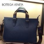 BV-00012-2 新款時尚男士寶藍編織男包斜挎手提商務包包