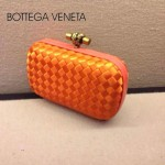 BV-00023 新款bv女款橙色時尚經典編織晚宴錢包