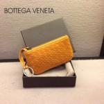 BV-00020-4 bv經典編織小羊皮女款黃色零錢包