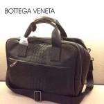 BV-00010 新款時尚男士黑色編織手提商務斜挎包包