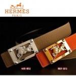 HERMES 0035 愛馬仕馬型金銀扣兩色原版皮皮帶