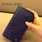 BV-00021-4 新款bv男女寶藍零錢包長款羊皮夾手抓款編織拉鏈卡位夾