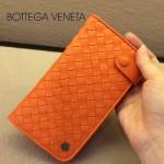 BV-00021-3 新款bv女橙色零錢包長款羊皮夾手抓款編織拉鏈卡位夾