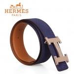 HERMES 0125 愛馬仕H字魚皮紋金扣紫色蛇皮兩用原版皮皮帶