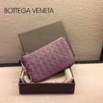 BV-00020-3 bv經典編織小羊皮男女款淺紫零錢包