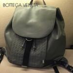BV-2010-1 新款男女適用用款雙肩包 胎牛皮 灰色
