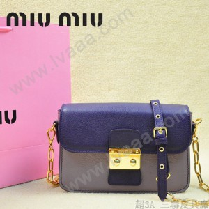 MIUMIU 0544-4 潮流百搭新款女士紫色拼淺紫色鏈條單肩包晚宴包