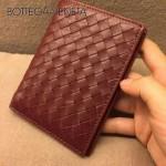 BV-專櫃-1 男士護照夾 原版小牛皮 磚紅色
