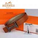 HERMES 0159 愛馬仕H字槍色扣土黃色原版皮皮帶
