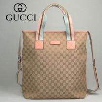 專櫃秋冬新款 Gucci/古馳新款古奇桃紅帆布斜挎單肩包 162163-2