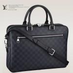 LV M41347 新款時尚潮流格子商務肩背包男包公文包