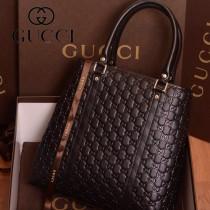 223668-02  新款GUCCI/古奇 黑色女士單肩手提包包