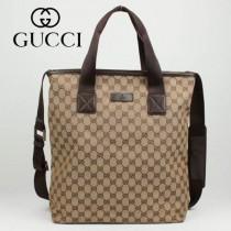 專櫃秋冬新款 Gucci/古馳新款古奇咖啡色帆布斜挎單肩包 162163-3