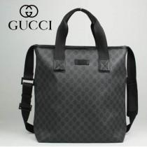 專櫃秋冬新款 Gucci/古馳新款古奇黑色帆布斜挎單肩包 162163-1