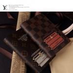 LV R20029 新款經典老花/咖啡格塗鴉印花日程記錄簿筆記本記事本