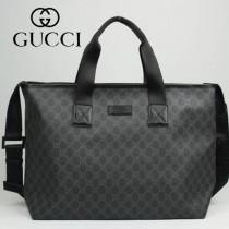 專櫃秋冬新款 Gucci/古馳新款古奇黑色帆布斜挎單肩包 162785-01