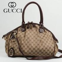 223974-01 新款GUCCI/古奇 棕色女士水餃包單肩斜跨手提包包