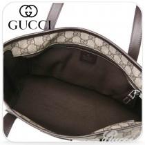 新款GUCCI/古奇 咖啡色帆布印花單肩手提女包/購物袋 211138-01