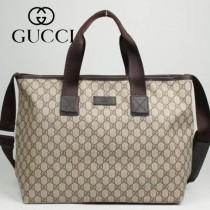 專櫃秋冬新款 Gucci/古馳新款古奇棕色帆布斜挎單肩包 162785