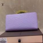 LV M60017-5 新款水波紋淺紫色長款拉鏈款女士錢夾手包