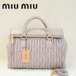 MIU MIU-0947-4 缪缪新款浅紫色進口小羊皮女士單肩包 時尚手提包
