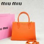 MIU MIU-0941-1 缪缪新款橙色原版皮女士單肩包 時尚手提包