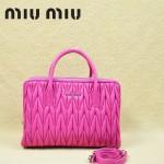 MIU MIU-0951-2 缪缪新款進口小羊皮 玫紅女士單肩包 時尚手提包