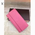 LV M61734-4 歐美風範大牌女款水波紋櫻花粉色錢包