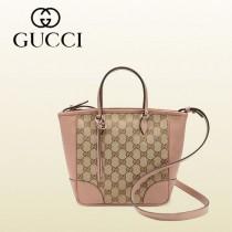 GUCCI 353121-2 新款歐美粉色小號帆布配皮手提單肩女包