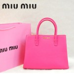 MIU MIU-0941-4 缪缪新款玫紅色原版皮女士單肩包 時尚手提包