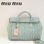 MIU MIU-0947-1 缪缪新款粉蓝色進口小羊皮女士單肩包 時尚手提包