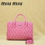 MIU MIU-0951-4 缪缪新款進口小羊皮櫻花粉女士單肩包 時尚手提包