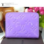 LV M93603-3 歐美女款薰衣草紫漆皮壓花零錢包