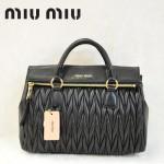 MIU MIU-0947-2 缪缪新款黑色進口小羊皮女士單肩包 時尚手提包