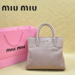 MIUMIU 0967-4 新款休閑粉紫色進口平紋油蠟牛皮斜跨單肩女包