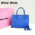 MIU MIU-0941 缪缪新款寶藍色原版皮女士單肩包 時尚手提包
