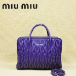 MIU MIU-0951-3 缪缪新款進口小羊皮 紫色女士單肩包 時尚手提包