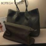 BV-8066 經典子母包購物袋 原版羊皮 黑色