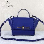 VALENTINO 013-5 歐美百搭新款熒光藍色原版皮小號蝙蝠包單肩包