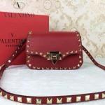VALENTINO 011-2 歐美潮流經典款紅色原版皮鉚釘包斜挎包