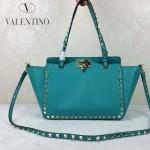 VALENTINO 06-5 歐美新款女士綠色小號鉚釘包單肩手提包