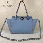 VALENTINO 06 歐美新款女士愛情海藍色小號鉚釘包單肩手提包