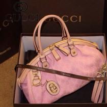 Gucci 223974 新款古馳女包手提包單肩斜挎帆布包水餃包