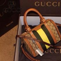 Gucci 247204-1 女包手提包帆布枕頭包波士頓圓筒包