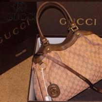 Gucci  211944 菱形格子磁扣挎包 手提女包