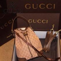 Gucci 197019-1 女包牛仔布時尚女包斜挎單肩包餃子水桶包