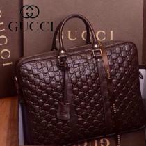 Gucci 201480-6 古馳新款男包手提包 壓花公文包